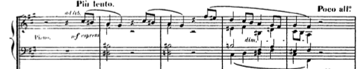 The piano entry from Franck's  Symphonic Variations