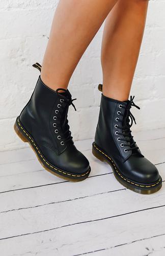 1460 Black Noir Boots - Nappa