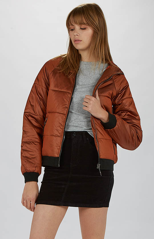 Shelter Hooded Puffa Jacket - Copper.jpg