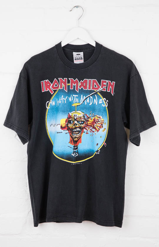 Vintage Band Tee - Iron Maiden Can I Play With Madness (L)  .jpg