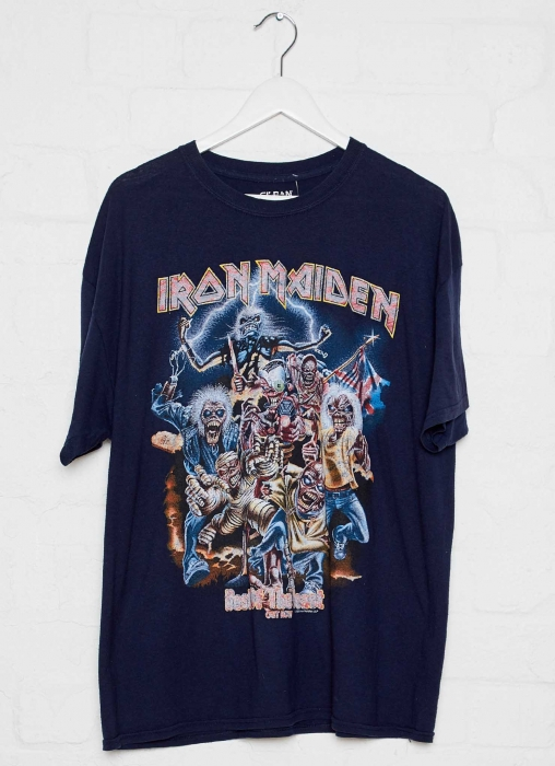 Vintage Band Tee - Iron Maiden - Navy