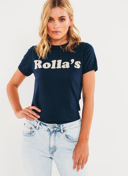 Rolla's - Mirror Logo Tee, Navy