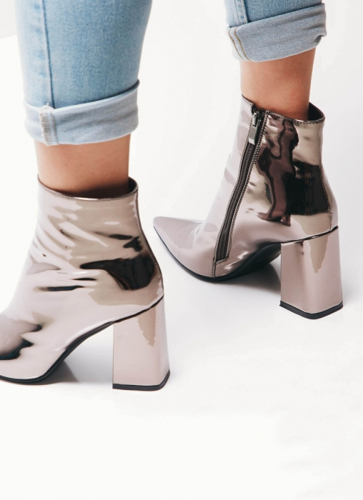 Therapy Shoes - Alloy Boots, Gunmetal