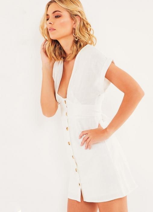 Gretal Dress, White