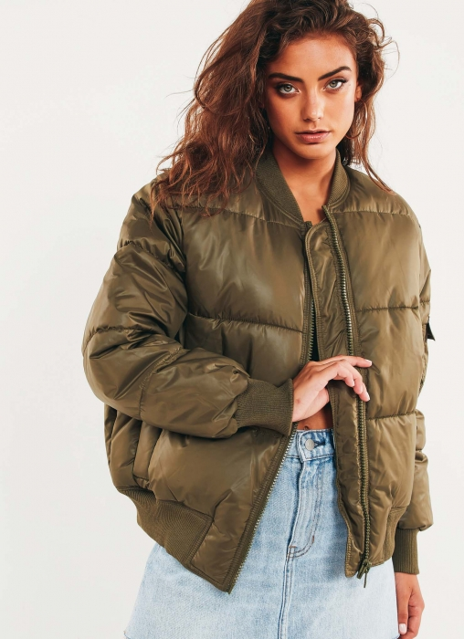 Risky Bomber Jacket - Mud Green