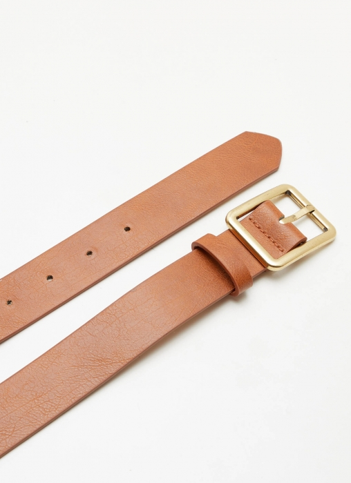 Tasha Belt - Tan + Gold