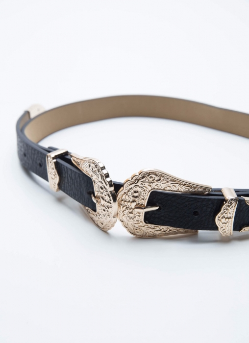 Cairo Belt - Black/Gold
