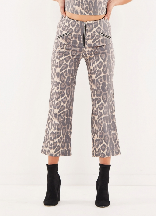 Leopard Zip Pants