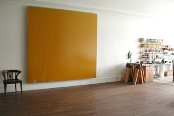 Joseph MARIONI. Yellow Painting, 2010, acrylic and linen on stretcher, 109 x 120 inches