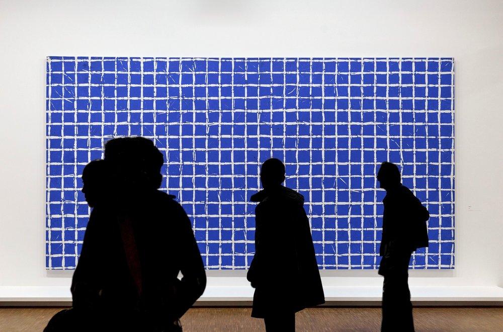 Simon Hantaï (1922-2008).Tabula, 1974, acrylic on canvas, 118.13 x 226 inches. Collection Musée national d'art moderne, Centre Georges Pompidou, Paris.