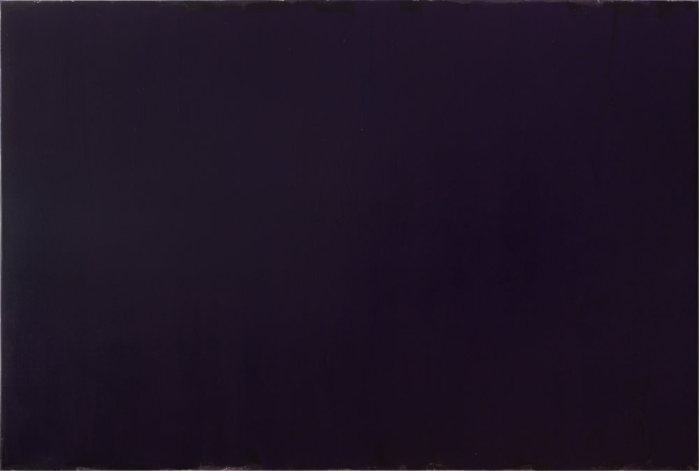 Joseph Marioni (b. 1943).  Violet Painting , 2015, acrylic and linen on stretcher, 96 x144 inches. Collection Philadelphia Museum of Art, PA.