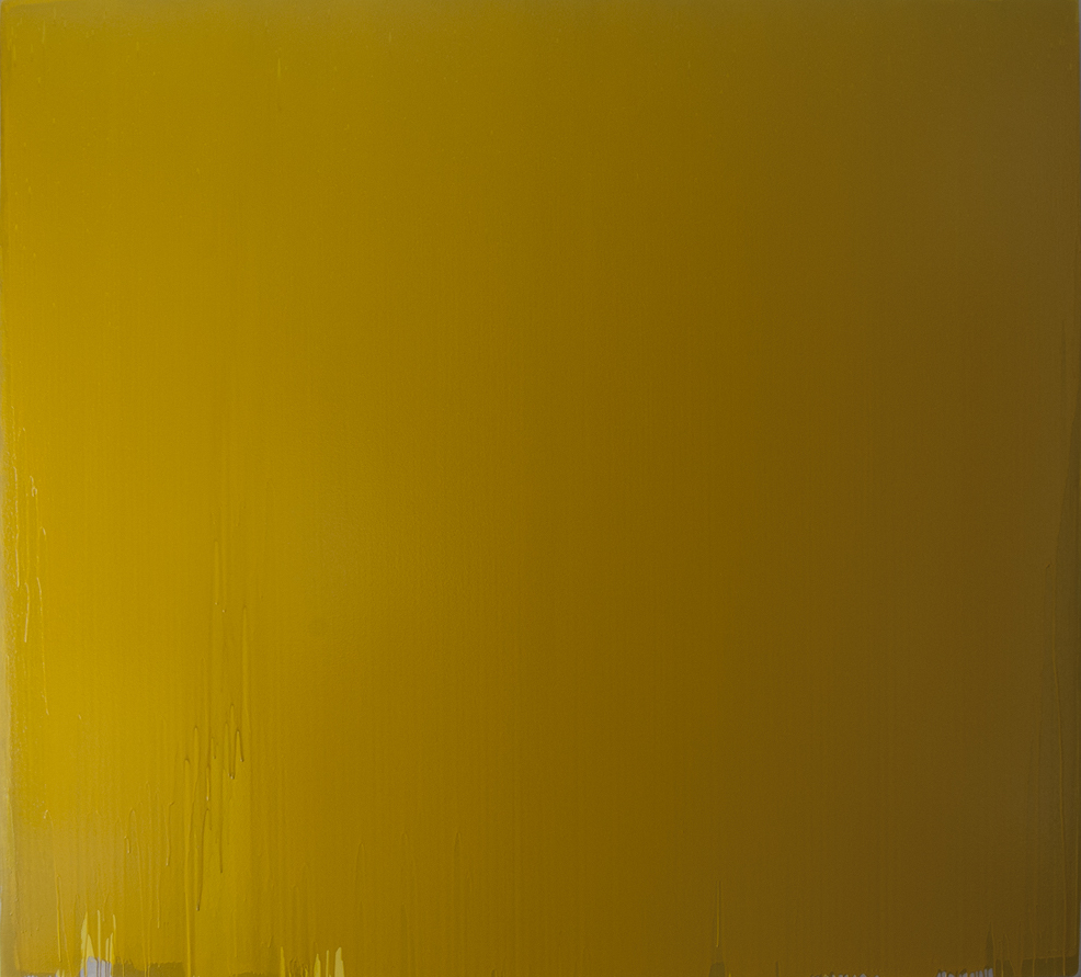 Joseph Marioni. Yellow Painting, 2007 Acrylic on canvas 276.9 x 304.8 cm (109 x 120 inches) Recently acquired by the Art Institute of Chicago