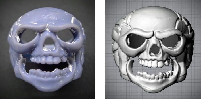 Picture 1. Wax Product                                  Picture 2. 3D Scan data