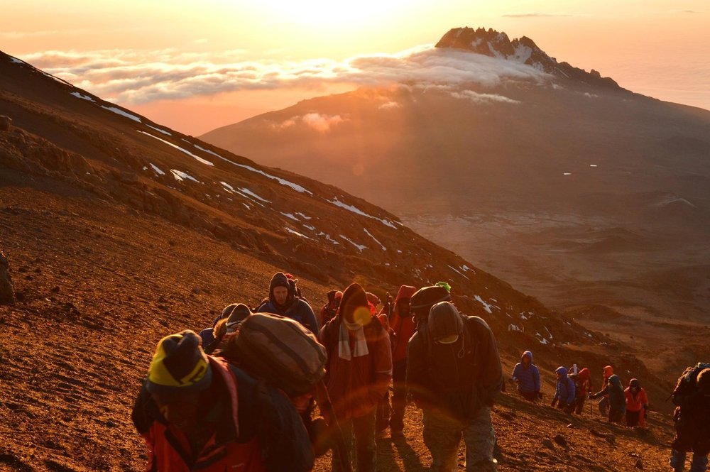 Approaching the summit at dawn – photo by Sam Hill-Smith