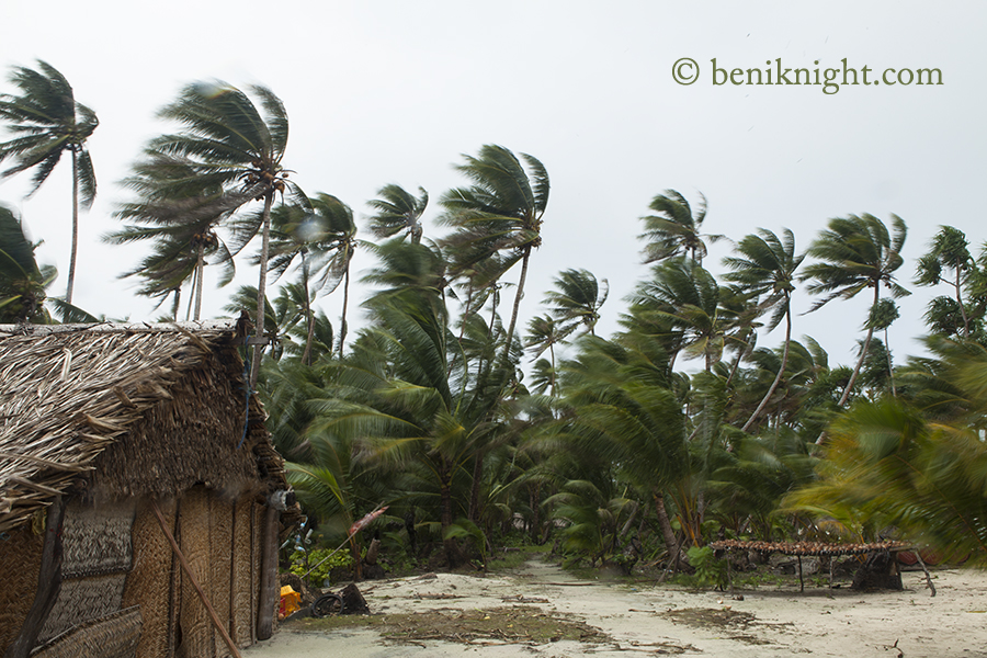 Cyclone Raquel was out of season and damaged many houses and gardens. July 1st 2015, Pelau.