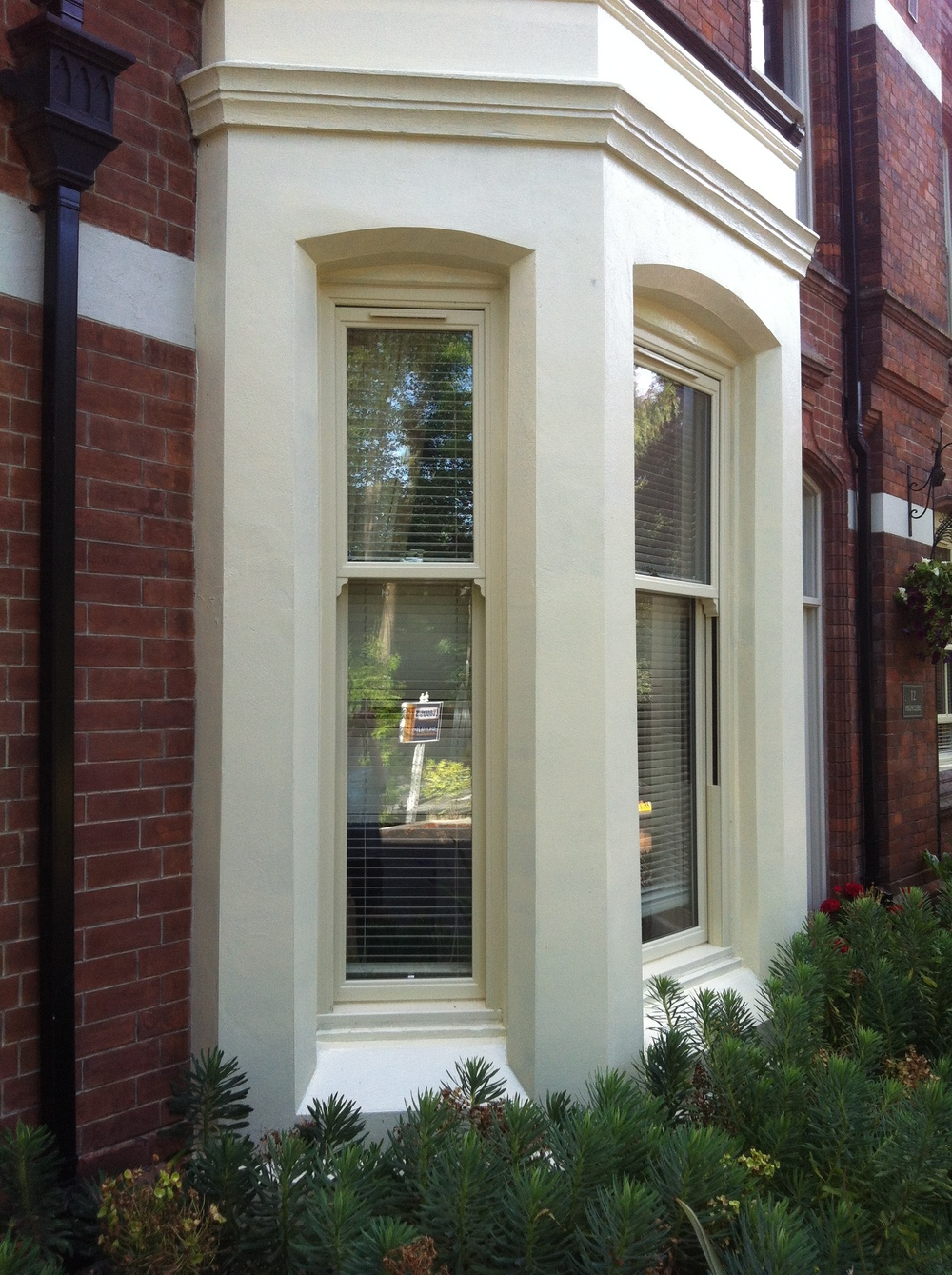 victorian bay with upvc period style sash