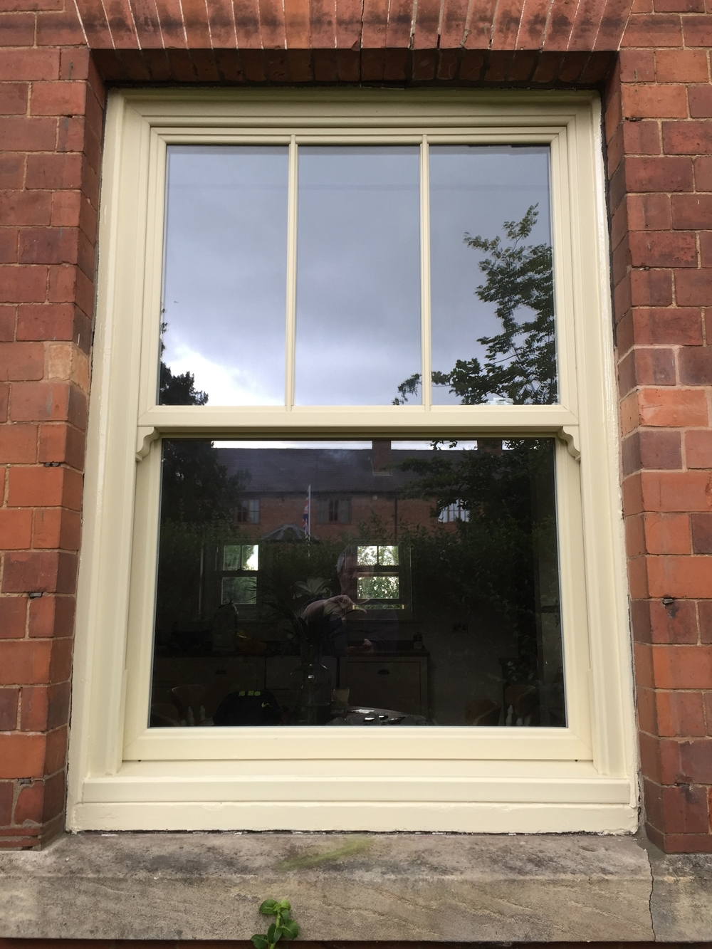 sash window cream upvc timber ansty warwickshire