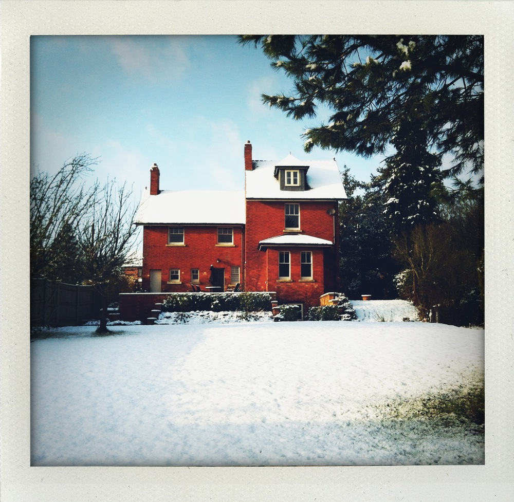 A snowy 'Hermitage', in Ansty, Warwickshire back in 2011 - with elegant original sash windows, but eye-watering heating bills.