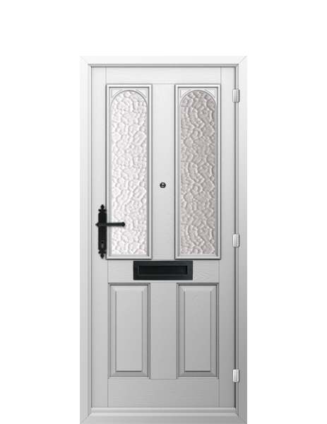 INTERIOR: 'Nottingham' - in smooth white; the solid core door construction provides excellent soundproofing and security.