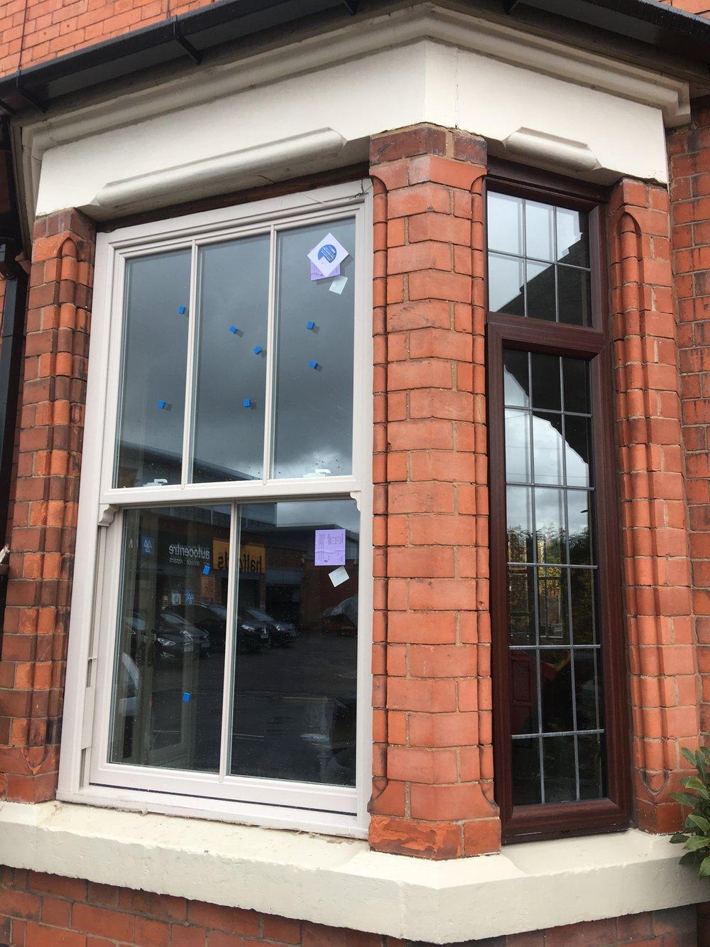 old and new upvc sash windows