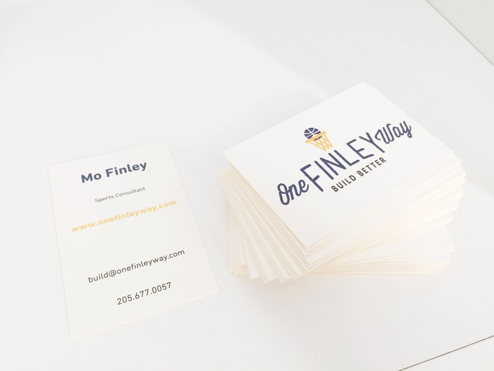 Simple, but striking business card design.