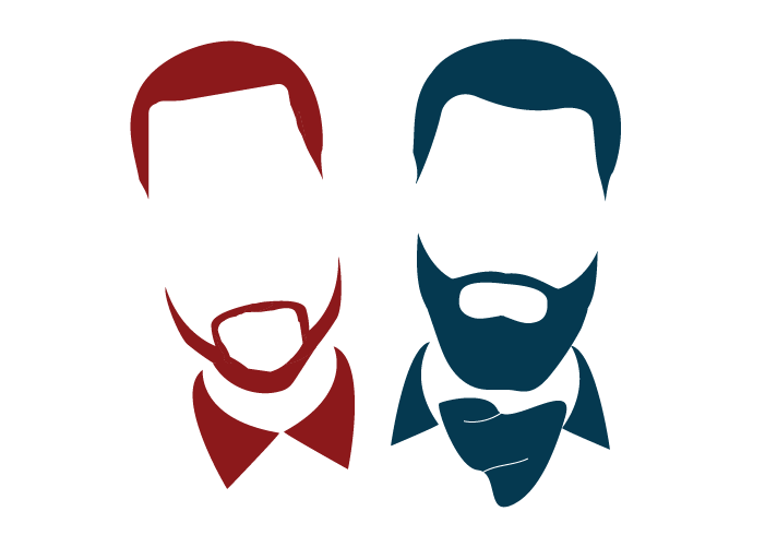 "These custom vector icons capture Billy and Bobby to the ""T"". Billy with his button-down shirt and Bobby with his beard and ascot."