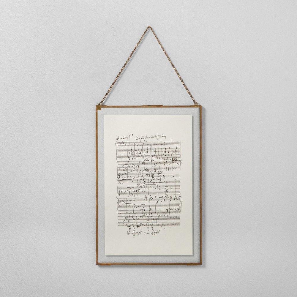 Music Notes Framed Wall Art
