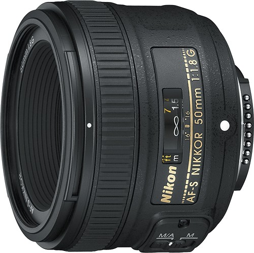 Nikon AF-S FX NIKKOR 50mm f/1.8G Lens with Auto Focus for Nikon DSLR Cameras - $216.95