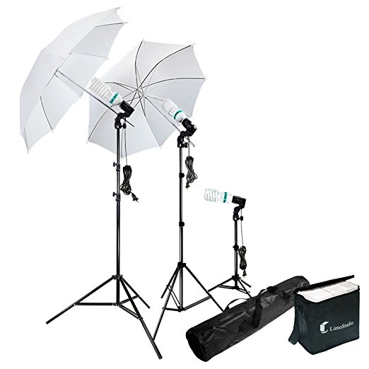 Photography Photo Portrait Studio 600W Day Light Umbrella Continuous Lighting Kit by LimoStudio, LMS103 - $52.99