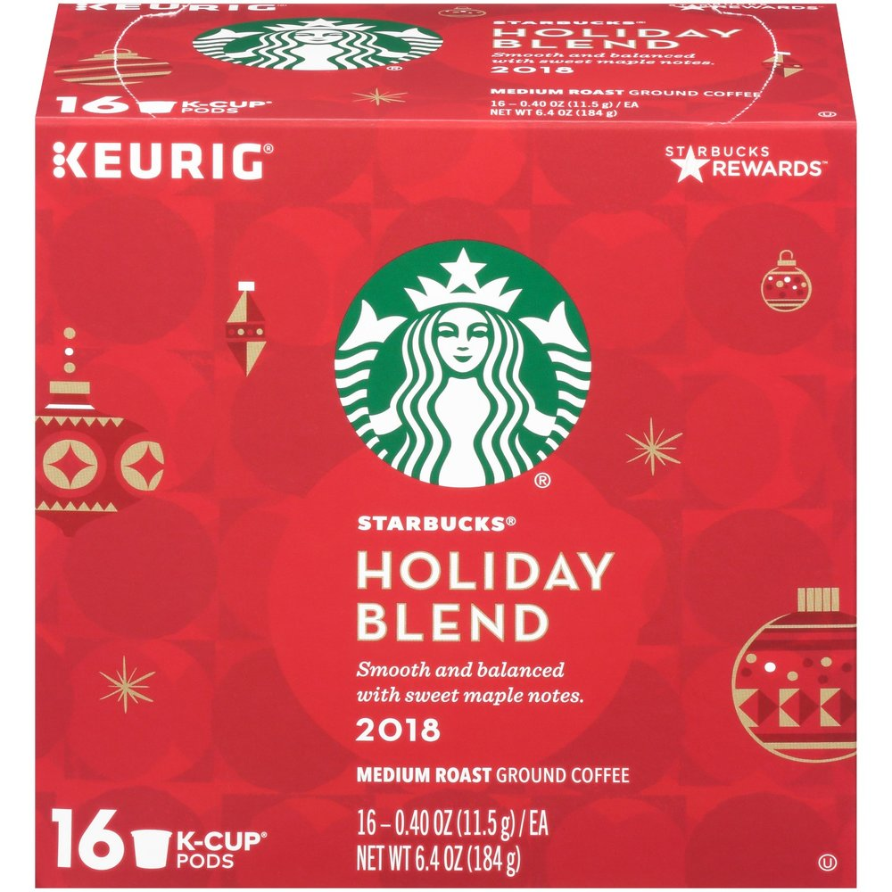 Starbucks Holiday Blend Medium Roast Coffee - Keurig K-Cup Pods - 16ct
