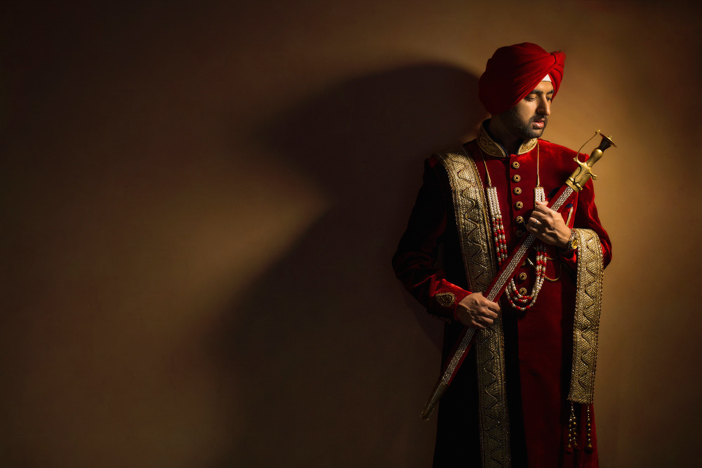 4.1.3.3.1 Sikh Wedding Day Shoot Portrait Groom - Southall Gurdwara.jpg