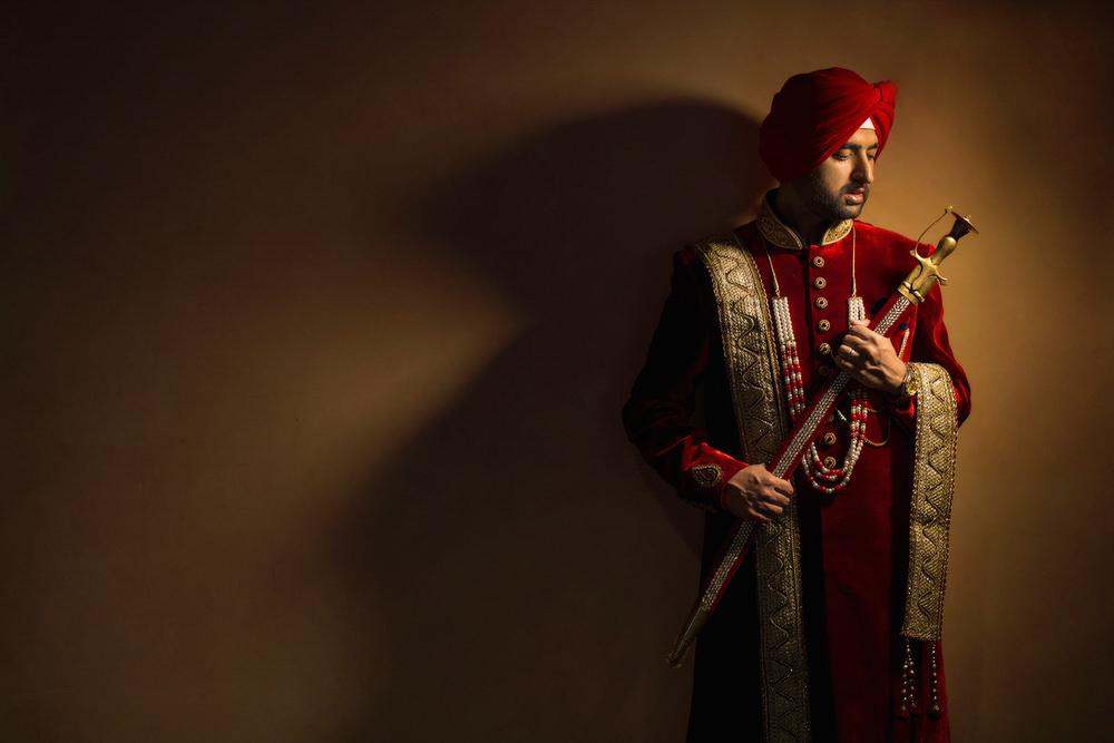 4.1.3.3.1 Sikh Wedding Day Shoot Portrait Groom - Southall Gurdwara.jpg