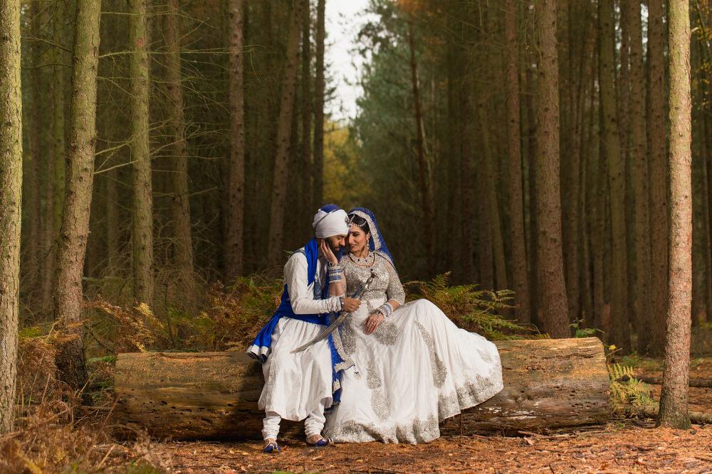 8.3.1. Sikh Amritdhari Wedding Day Shoot Portrait Couple - Black Park Slough.jpg