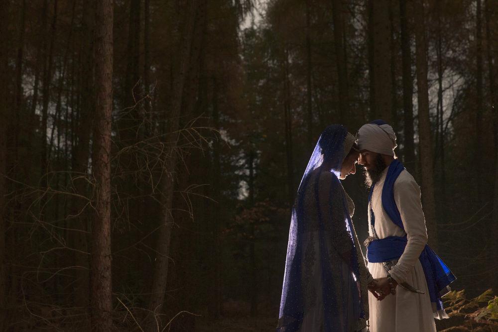 16.2. Sikh Amritdhari Wedding Day Shoot Portrait Couple - Black Park Slough.jpg