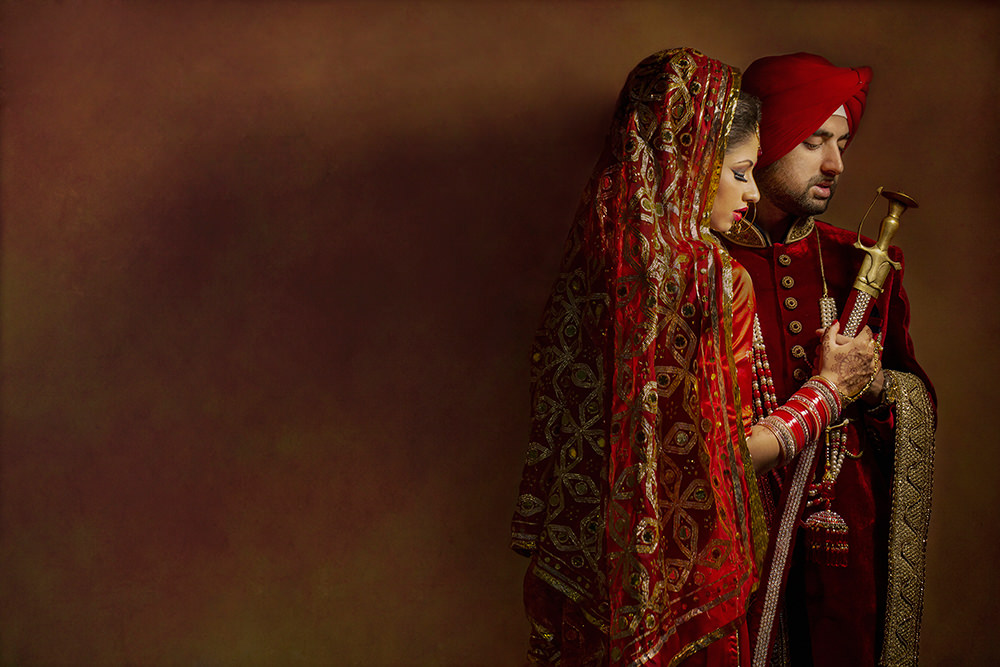 2.2.3.3. Sikh Wedding Day Shoot Portrait Couple - Southall Gurdwara.jpg