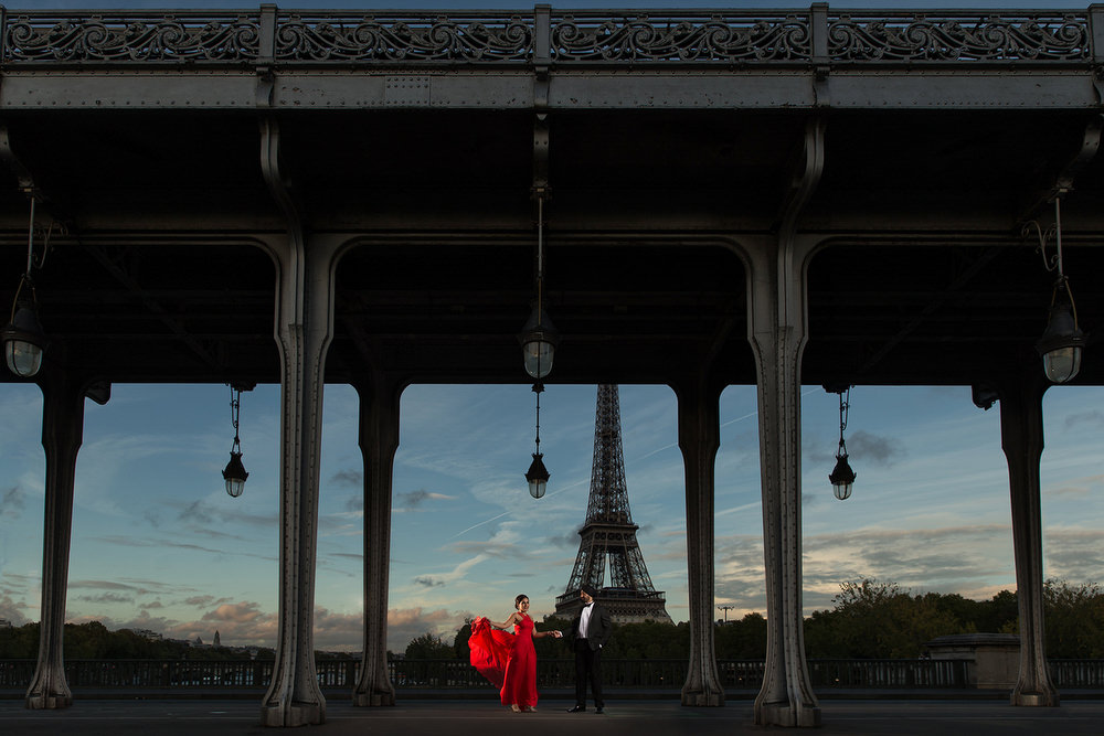 6. Paris Pre Wedding Anniversary Pre Wedding Engagement Shoot - Bir Hakeim, Eiffel Tower., Inception Bridge.jpg