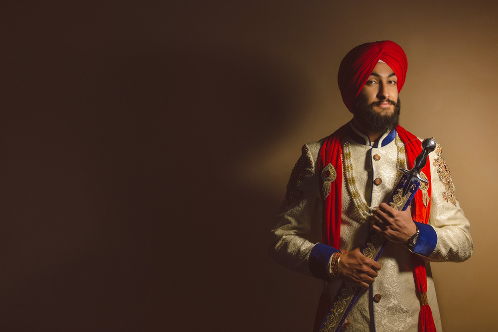 1.0.1.1.1 Sikh Wedding Day Shoot Portrait Groom - Southall Gurdwara.jpg