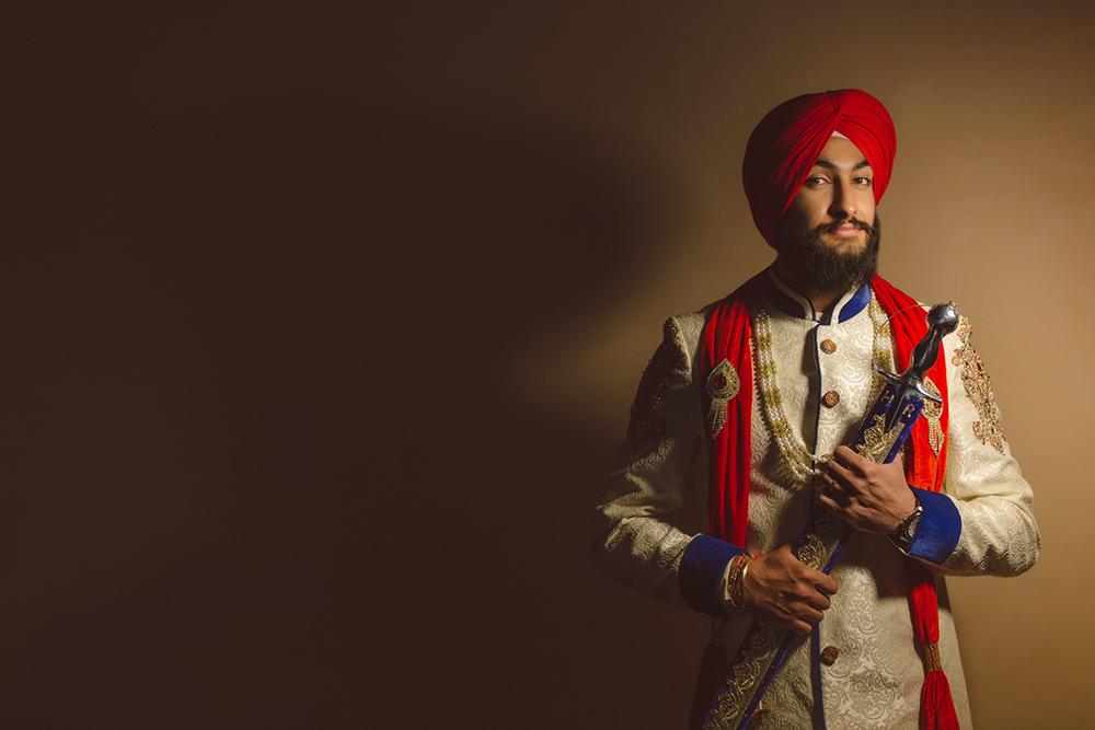 1.0.1.1.1 Sikh Wedding Day Shoot Portrait Groom - Southall Gurdwara.jpg