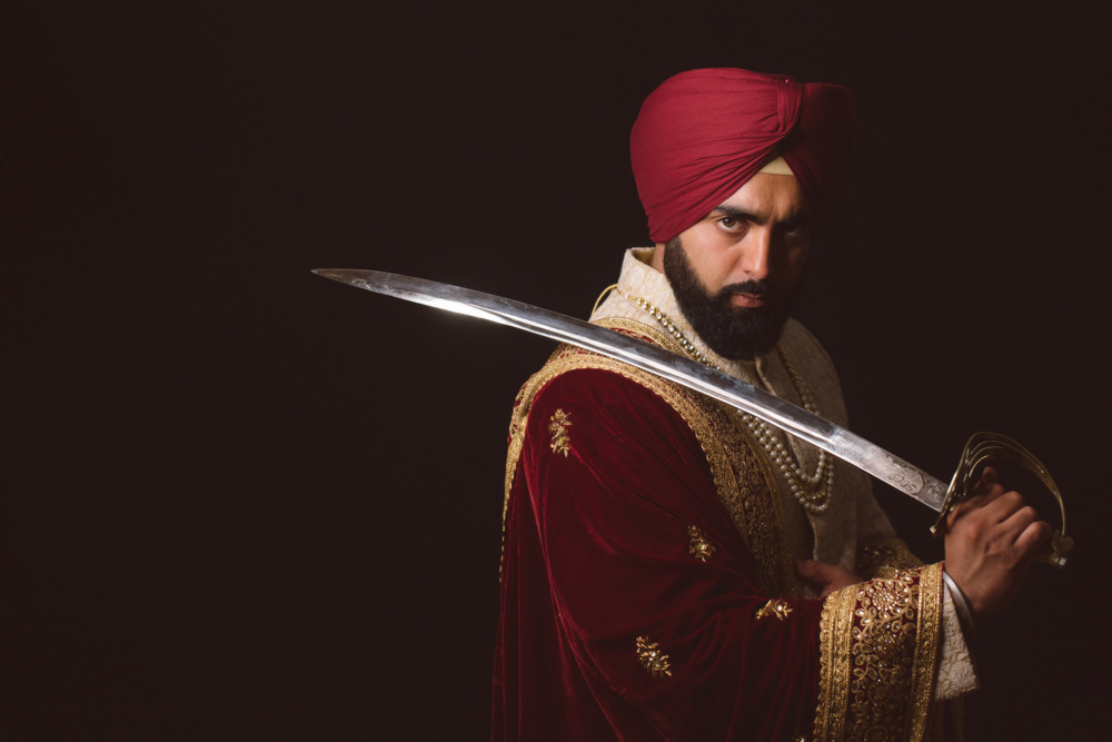 1.0.1.1.1.2.1 Sikh Wedding Day Shoot Portrait Groom - Southall Gurdwara.jpg