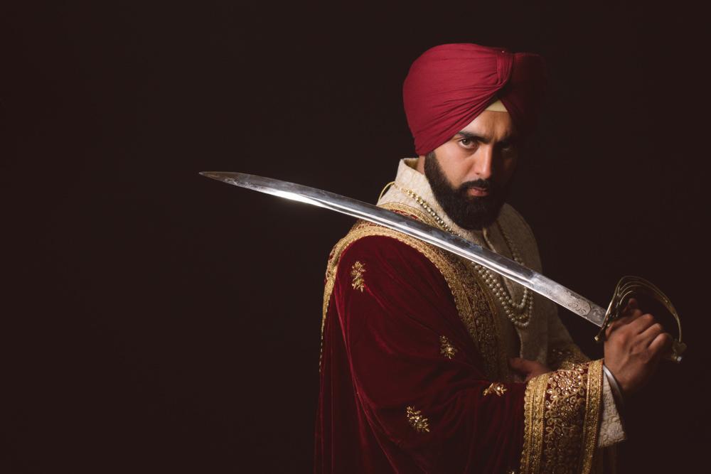 1.0.1.1.1.2.1 Sikh Wedding Day Shoot Portrait Groom - Southall Gurdwara.jpg