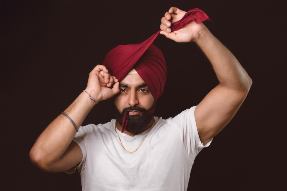 1.1.2.1.b Sikh Wedding Day Shoot Portrait Groom - Southall Gurdwara.jpg