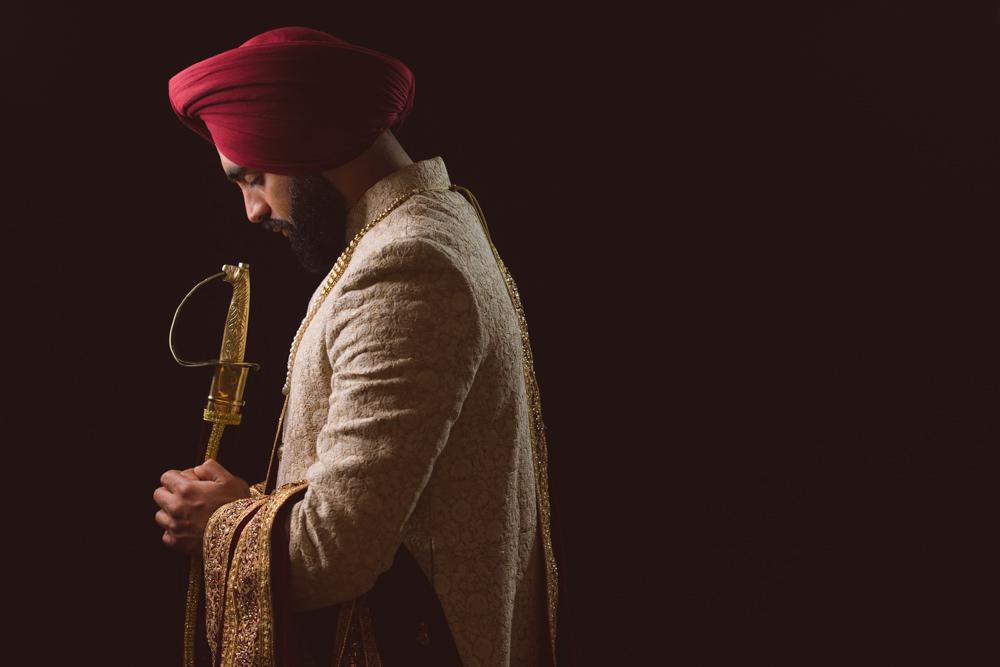1.1. CCA Sikh Wedding Day Shoot Portrait Groom - Southall Gurdwara.jpg