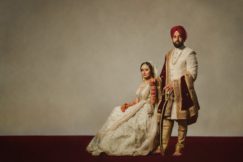 2.0.2. Sikh Wedding Day Shoot Portrait Couple - Guru Nanak Academy Wedding.jpg