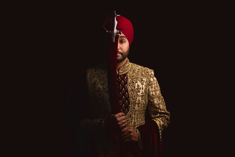 0.3.2A Sikh Wedding Day Shoot Portrait Groom - Southall Gurdwara.jpg