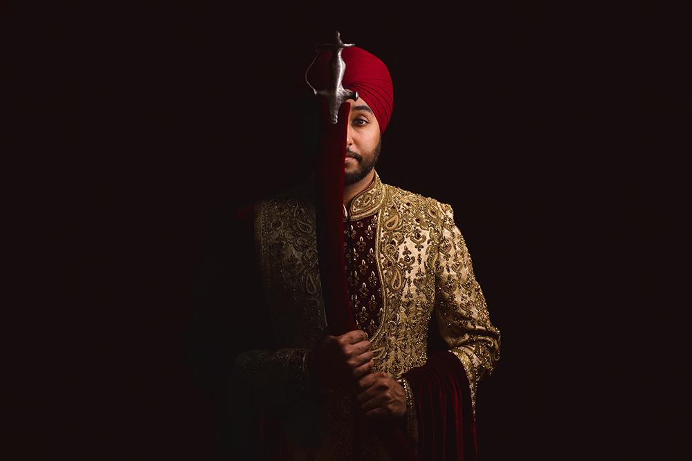 0.3.2A Sikh Wedding Day Shoot Portrait Groom - Southall Gurdwara.jpg