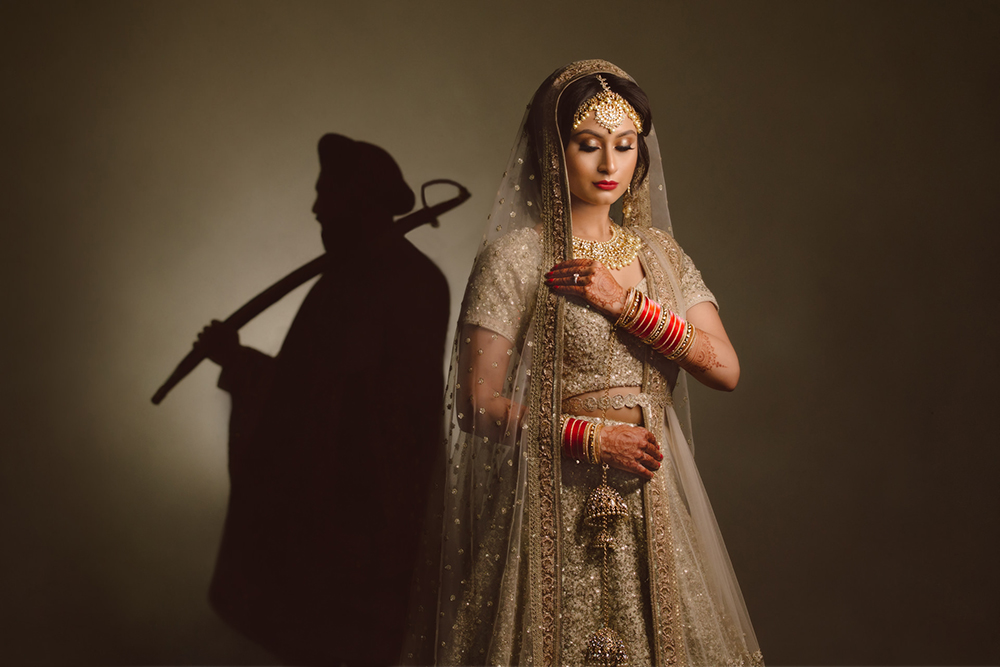 0.3.2A 1.2.0.2. Sikh Wedding Day Shoot Portrait Couple - Guru Nanak Academy Wedding.jpg