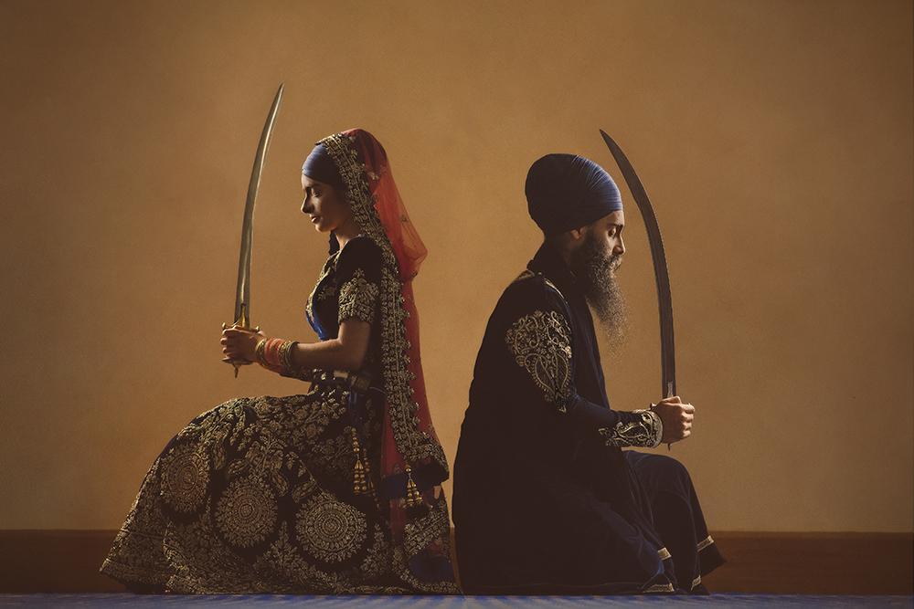 1.0.1.1.1.2 Sikh Wedding Day Shoot Portrait Couple - Havelock Road Southall Amrit Dhari.jpg