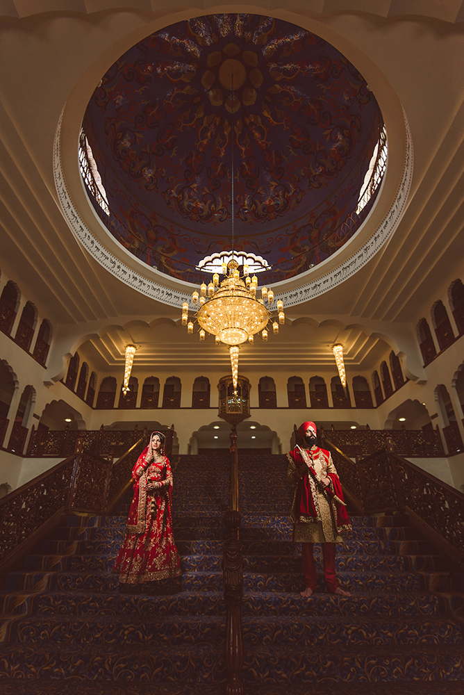 1.0.1.1.1.2 Sikh Wedding Day Shoot Portrait Bride - Gravesend Gurdwara Dome.jpg