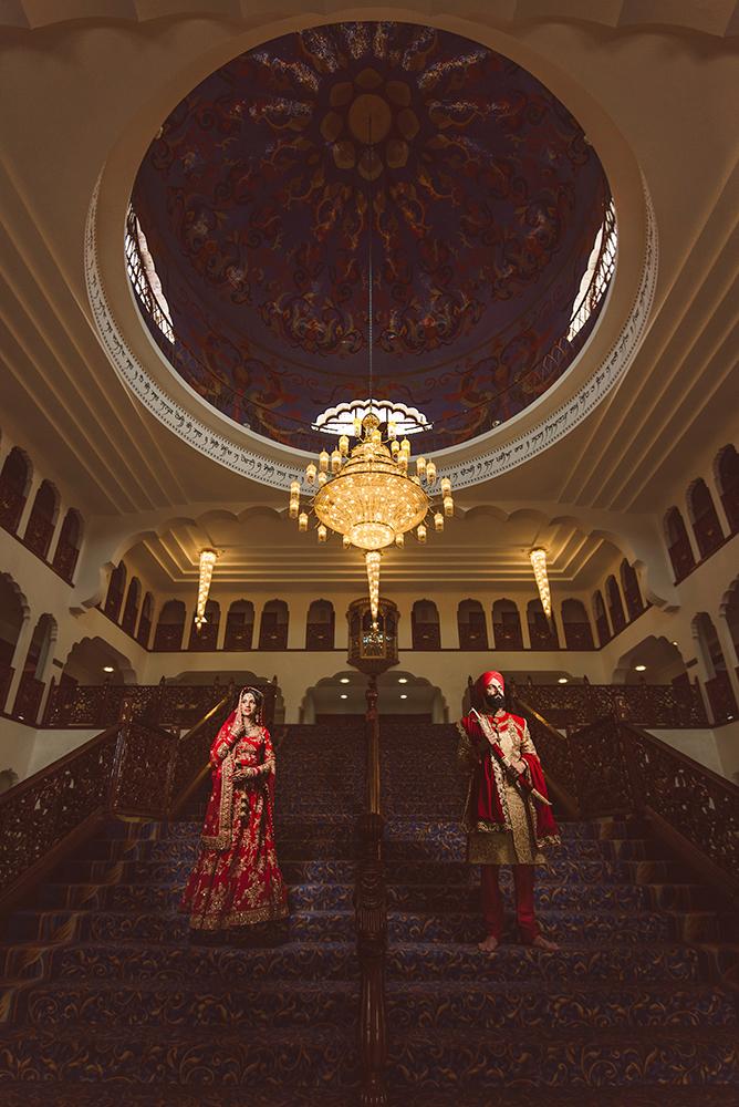 1.0.1.1.1.2 Sikh Wedding Day Shoot Portrait Bride - Gravesend Gurdwara Dome.jpg