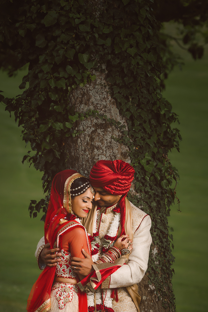 2.0.3. Gujerati Hindu Wedding Day Shoot Couple - Surrey Golf Club.jpg